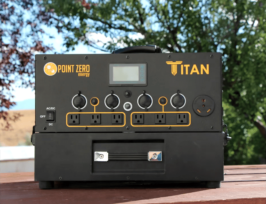 powered portable solar titan generator